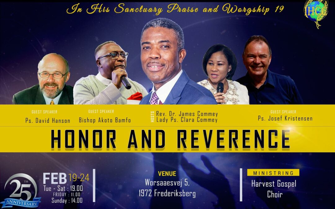 2019 Aniversary – Honor and Reverence